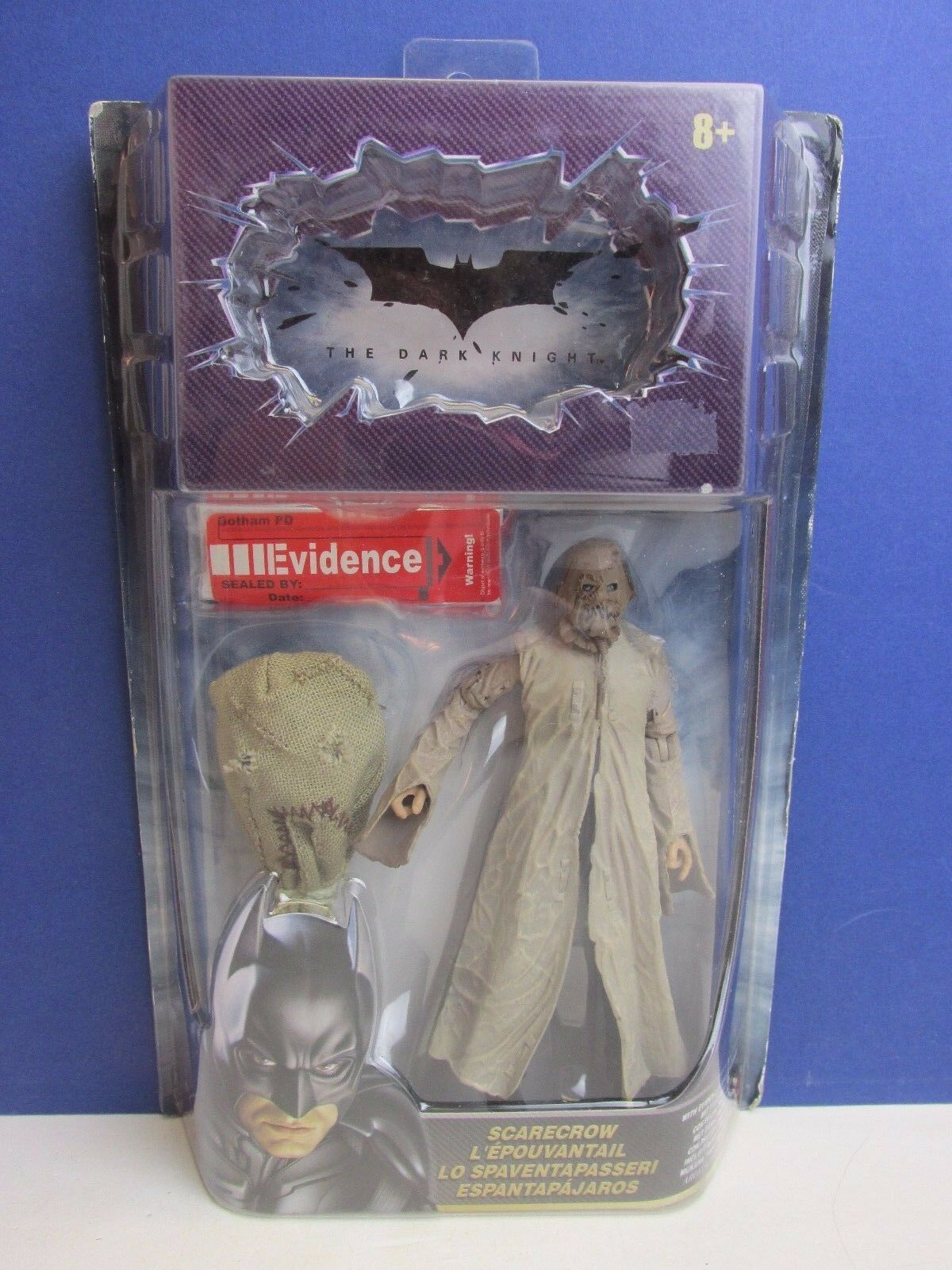 Rare DARK KNIGHT BATMAN SCARECROW ACTION FIGURE dc comics MOVIE evidence W10