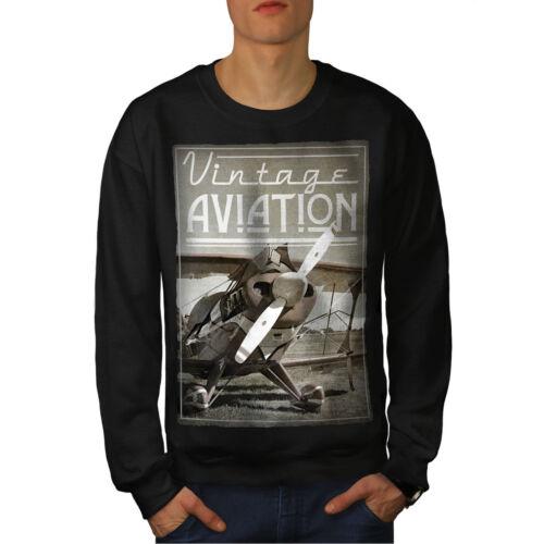 Black New Felpa uomo Aviation da Vintage qwxZxfgXY