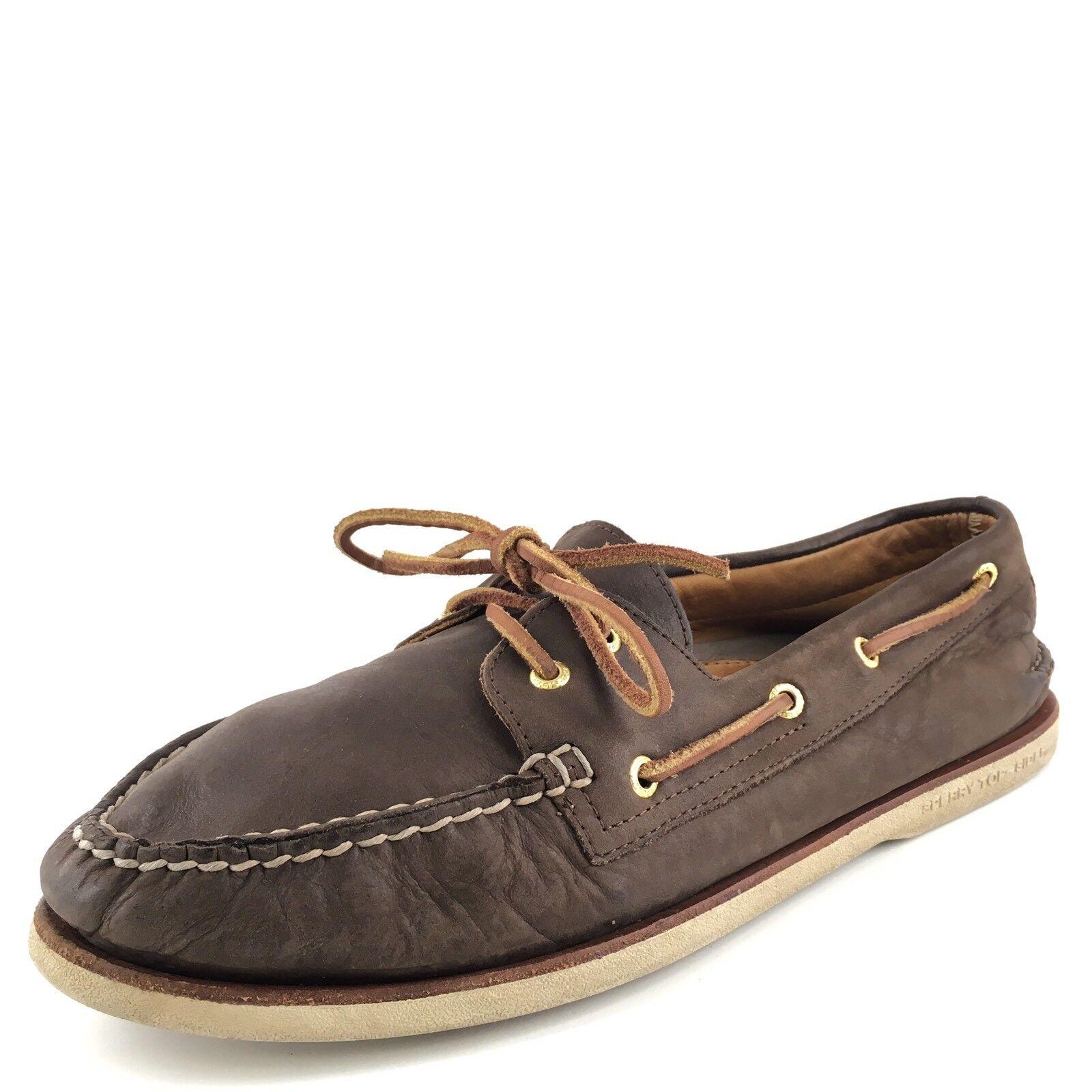 97e2e15f0d5 Sperry Sperry Sperry Top-Sider Gold Cup Original Marrón Cuero Zapatos  náuticos para hombres M