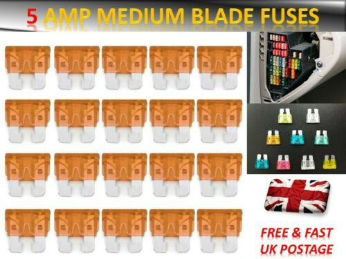 20PCS HYUNDAI CAR FUSES SET MEDIUM//STANDARD BLADE *5AMP*