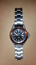Croton Men's Diver's Wristwatch (CA301159) **Black Face / Orange Dail**