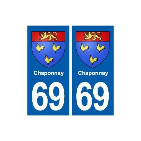 69 Chaponnay blason autocollant plaque stickers ville droits