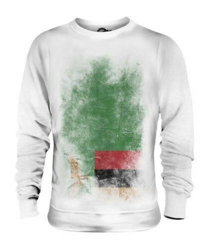 ZAMBIA FADED FLAG UNISEX SWEATER TOP ZAMBIAN SHIRT FOOTBALL JERSEY GIFT