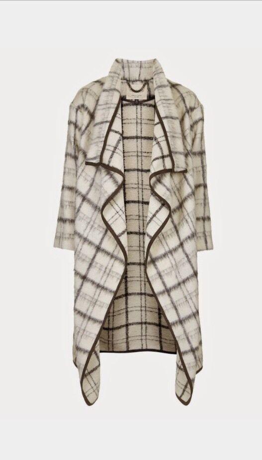 TOPSHOP UK PREMIUM TEXTURED BLANKET COAT Size M