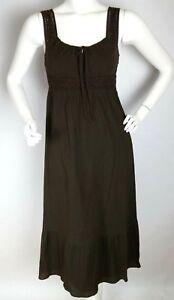 ANN-TAYLOR-LOFT-Dress-Sz-2-Brown-Dark-Olive-Green-Sleeveless