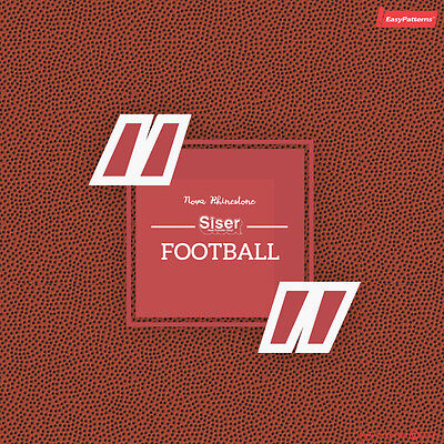 Football Siser EasyPatterns Heat Transfer Vinyl HTV for T-Shirts 18 by 12 Inches