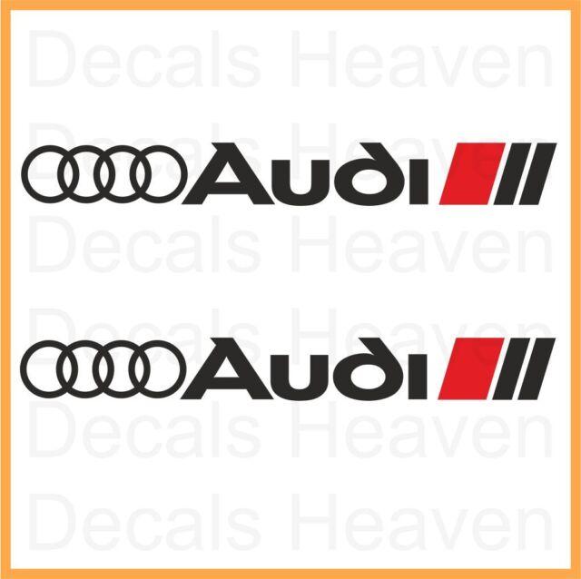 2x AUDI SPORT LOGO RINGS CAR STICKER 20 x 2.3 cm - A1 A3 A4 A5 A6 A7 A8 S4 S6 S8
