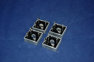 5PCS 25A 1000V Metal Case Bridge Rectifier KBPC2510 FO