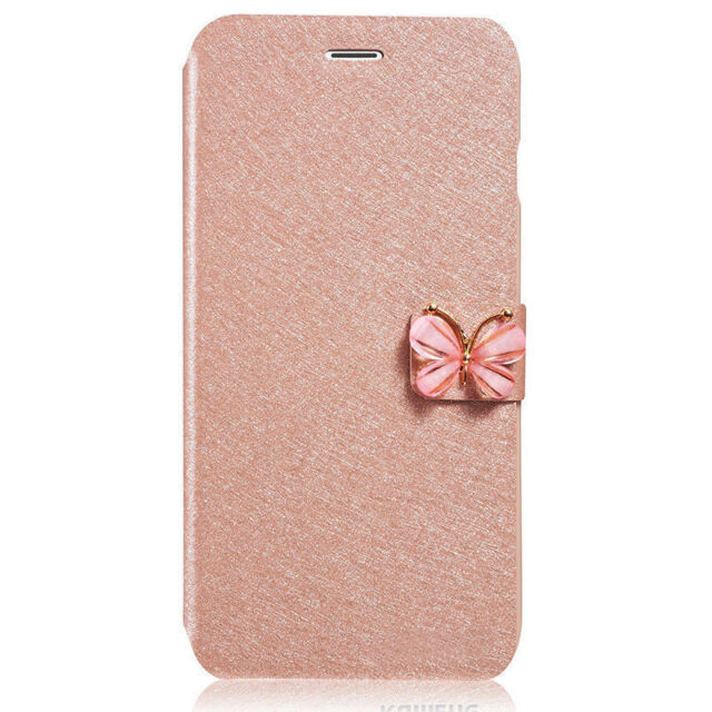 Luxury Flip Leather Slim Wallet Card Magnetic Case Cover For iPhone Samsung