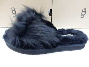 a9881bfe029 Details about UGG WOMENS MIRABELLE SLIPPER BLACK SIZE 10