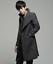 thumbnail 7 - Wool Blend Stand Collar Coat Slim Fit Jacket Men's Mid Length Parkas Asymmetric