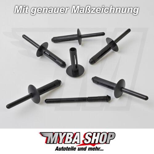 20x parachoques guardabarros spreizniete remacha clip para chrysler Jeep 34201631