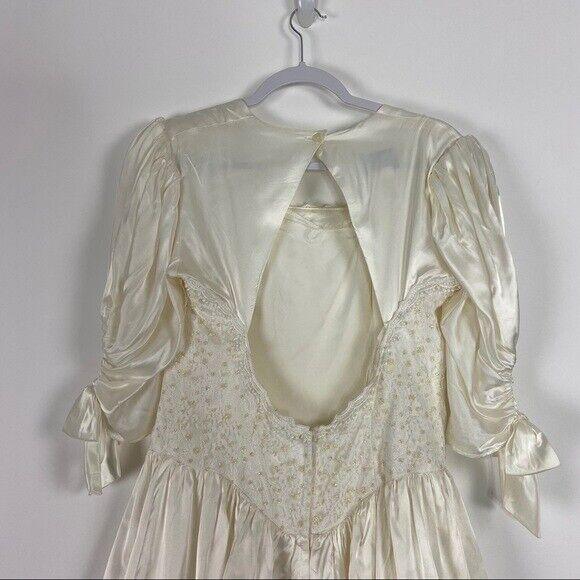 GUNNE SAX Jessica McClintock Size M Vintage White… - image 8