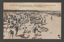 [61886] OLD POSTCARD BATHING BEACH at HECKSCHER STATE PARK, EAST ISLIP, L.I., NY