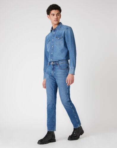 Wrangler Texas Slim Blow Out Indigo w12su5238-Slim Fit Stretch Jeans Hommes