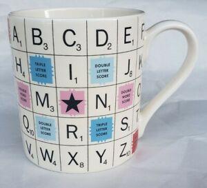 RARE 2012 HASBRO Scrabble Tiles Ceramic Game Board Coffee Mug By Will & Wolf