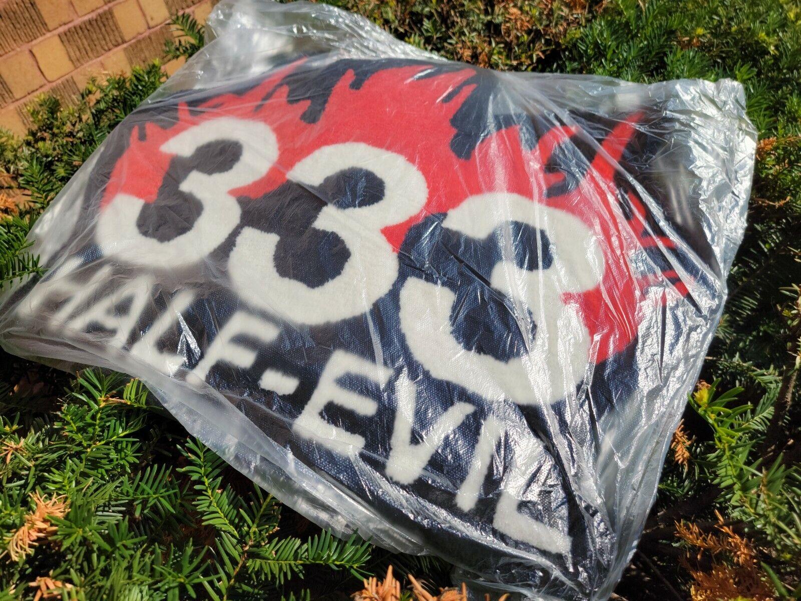 Half Evil 333 FLAME LOGO RUG DEADSTOCK