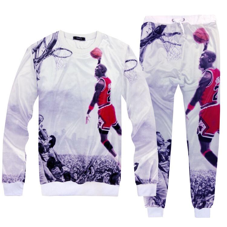 Men's Casual clothing set sweater+pant 2 piece tracksuits Dunk Pint Sport Suit