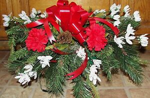 Sweetest-Day-Tombstone-Saddle-Arrangement-18-034-L-Cemetery-Memorials-Grave-Flowers