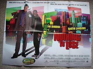 NOTHING-TO-LOSE-Original-film-poster-Tim-Robbins-1990-039-s-UK-quad