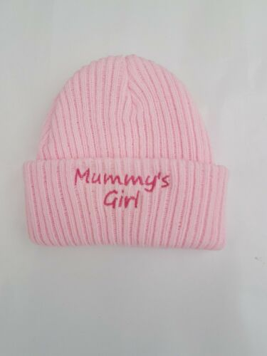 NEWBORN BABY BOY//GIRL HAT WHITE PINK BLUE KNITTED BABIES CAP nb-3mths
