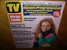 Zeitschrift TV Hören und Sehen Nr.9 Programme vom 4 - 10 März 1989