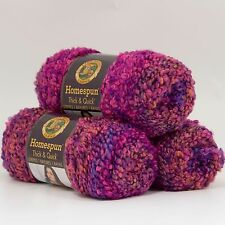 Lion Brand Yarn 792-221 Homespun Thick & Quick, Sunset Stripes(Pack of 3 skeins)