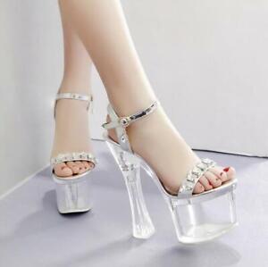 Womens-Fashion-T-strap-Transparent-High-Heels-Sandals-Open-Toe-Platform-Shoes