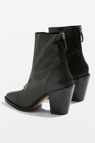 Leather Worn Us Sock 39 6 8 5 Black Twice Ankle Boots 'march' Topshop Uk Eu EZAqOf11U