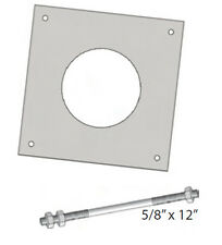 "ROHN J Bolt for 25GSSB Self Supporting Base Plate 5//8/"" X 12/"" inch 5//8X12BB"