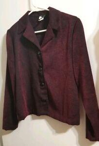 Womens-Black-Red-Top-Blouse-Blazer-Jacket-Size-4