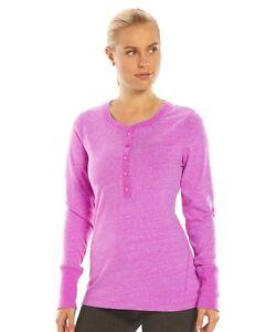 TEK-GEAR-Women-039-s-Scoop-neck-Henley-Top-Pink-Gray-Black-Blue-colors-M-L-sizes-NWT