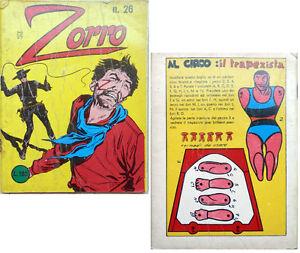 ZORRO-la-frusta-di-zorro-n-26-del-1968-gioco-carta-da-ritagliare-gt-vedi
