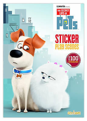 """AS NEW"" Centum Books, Secret Life of Pets: Sticker Scenes, Book"