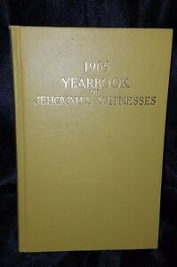 1965 Yearbook of Jehovah's Witnesses Watchtower Mustard