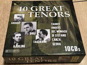 10 Great Tenors - Tauber, Anders, Caruso, Gigli, Björling, Tagliavini -10 Cd Box