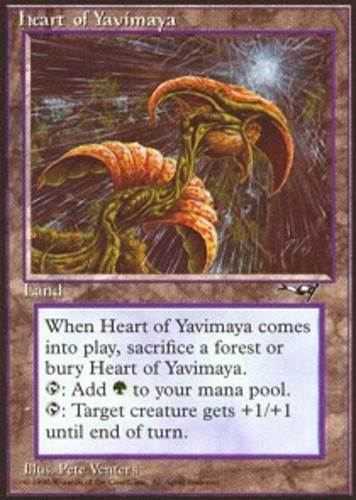 Alliances Near Mint x1 Heart of Yavimaya 1x English -BFG- MTG Magic
