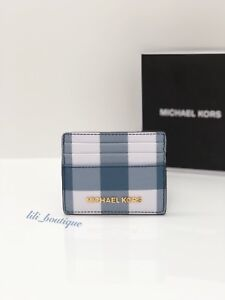 c1e3aadbd63236 NWT Michael Kors Jet Set Travel Large Card Holder Case Canvas White ...