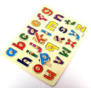 Steckpuzzle-Alphabet-A-Z-Lernspiel-Setzpuzzle-Kinder-Spielzeug-Holz-Puzzle