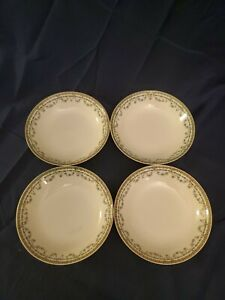 ANTIQUE-HAVILAND-amp-CO-FRANCE-LIMOGES-DURANA-SET-OF-4-DESSERT-BOWLS-EUC