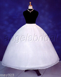 4-Hoop-Bone-Super-Full-Bridal-Wedding-Gown-Dress-Petticoat-Crinoline-Skirt-Slip