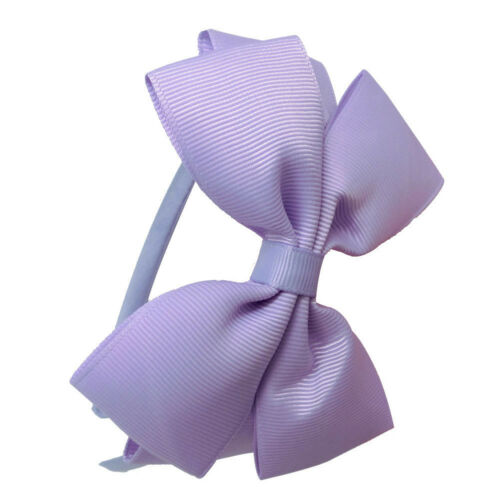 New Kids Girls Child Cute Hair Bands School Bow alice Band headband Satin Fabric