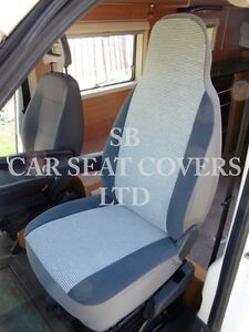 TO FIT A FIAT DUCATO MOTORHOME, 2002, SEAT COVERS, HENRY STRIPE MH-026, 2 FRONTS
