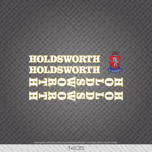 Decals 01405 Holdsworth Bicycle Stickers Transfers White//Gold
