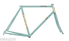 2016 Bianchi Tipo Corsa Steel Frameset 49 cm Celeste Cream Panels Road Bicycle
