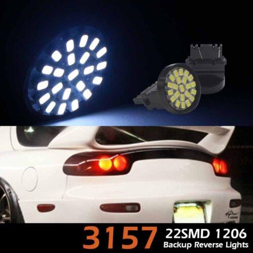 10PCS White 3157 22SMD Tail Brake Stop Reverse Backup Light LED Bulb 4156 4157