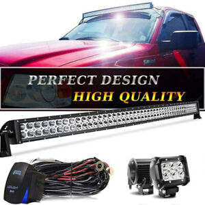 84-01-Fit-Jeep-Cherokee-XJ-Roof-50-039-039-inch-LED-Work-Light-Bar-w-4-034-Pods