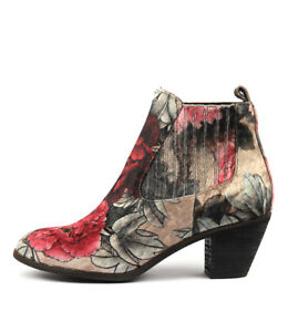 New-I-Love-Billy-Nexis-Black-Flower-Womens-Shoes-Casual-Boots-Ankle