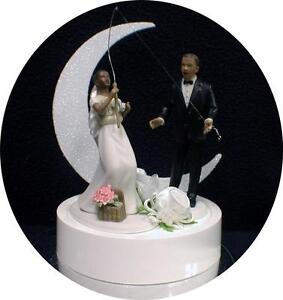 african american wedding cake toppers humorous black american fishing fish groom wedding 10601
