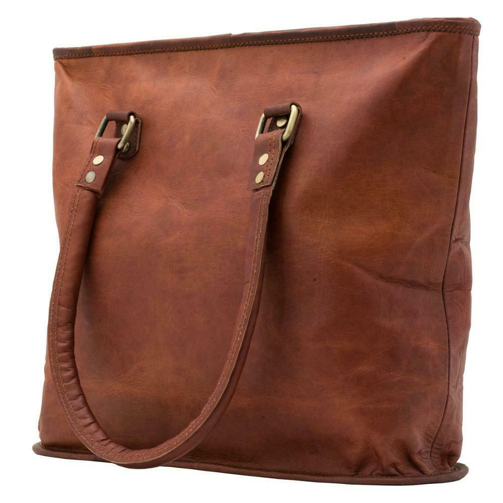 Leather Tote Bag Women Purse Work Shopping Travel Handbags Shoulder Bags 16 In